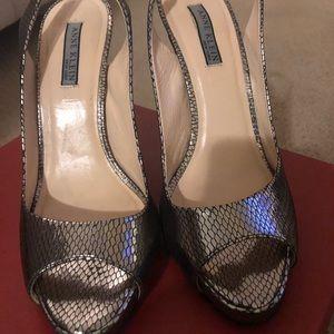 Anne Klein Open Toe Slingback Platform Sandals